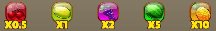 ตางรางเกมผลไม้ Fruit Blast